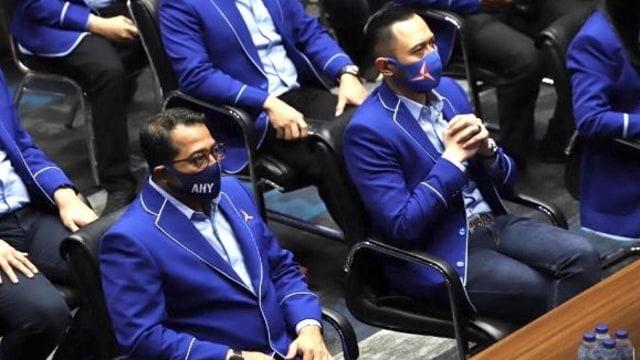 Partai demokrat pecat 7 kader, termasuk Marzuki Alie dan Jhoni Allen Marbun [Foto: Kumparan]
